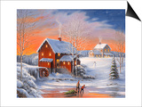 Winter at the Old Mill Posters by John Zaccheo
