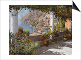 la Terrazza a Positano Prints by Guido Borelli