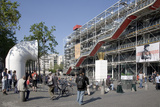 Western Facade of Pompidou Centre, Renzo Piano, Paris, France Photographic Print by Sigrid Schutze-Rodemann