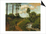 Hiker in the Black Forest (Der Wanderer Im Schwarzwald), 1891 Prints by Hans Thoma