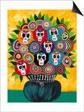 Sugar Skull Bouquet Posters by Kerri Ambrosino