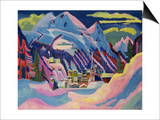 Davos in Winter, 1923 Prints by Ernst Ludwig Kirchner