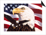Eagle and Flag Prints by William Vanderdasson