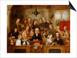 The Village Choir Plakaty autor John Watkins Chapman
