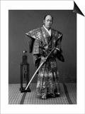 Samurai Warrior, 1880s Poster by Kusakabe Kimbei