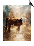 Calf in the Sunday Sun Prints by Jai Johnson