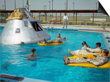 Apollo 1 Astronauts Working by the Pool Posters