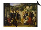 St, Roch Giving Alms, 1817 Prints by Julius Schnorr von Carolsfeld