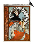 Au Quartier Latin, 1898 Prints by Alphonse Mucha