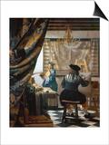 The Art of Painting (The Artist's Studio), C. 1666-68 Art by Mar Vermeer