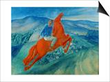 Phantasy (Equestrian), 1925 Art by Kosjma Ssergej Petroff-Wodkin