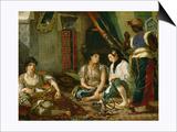 The Women of Algiers in their Apartment, 1834 Posters par Eugène Delacroix