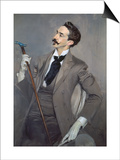 Portrait of the Writer Count Robert De Montesquiou (1855-1921), 1897 Prints by Giovanni Boldini
