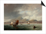 Leith and Edinburgh from the Firth of Forth, 1847 Posters by John Wilson Carmichael