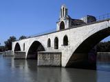 Avignon, Pont D Avignon, Pont St. Benezet - Provence, France Reprodukcja zdjęcia autor Sigrid Schutze-Rodemann