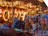 Merry go Round, Indiana State Fair, Indianapolis, Indiana, Print by Anna Miller