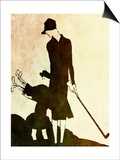 Flapper Golfer Lady Prints