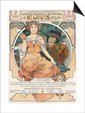 Poster for the World Fair, St, Louis, 1903 Posters by Alphonse Mucha