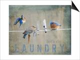 Laundry Day Bluebirds Plakater af Jai Johnson