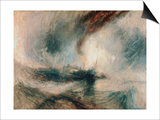 Snowstorm at Sea, 1842 Posters by Joseph Mallord William Turner