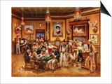 Western Saloon Poster af Lee Dubin