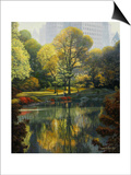 Reflection of the Park Prints by John Zaccheo