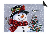 Snowman Prints by William Vanderdasson