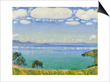 Lake Geneva Seen from Chexbres, 1905 Posters par Ferdinand Hodler