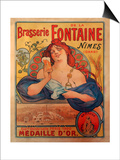 Brasserie Fontaine Poster
