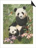 Panda Paradise Prints by William Vanderdasson