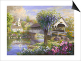 Picturesque Covered Bridge Posters by Nicky Boehme