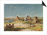 Tent Camp of Indians, Wyoming Posters by Frank Buchser
