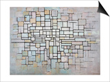 Composition No 11 in Grey, Pink and Blue, 1913 Poster by Piet Mondrian