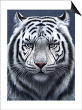 White Tiger Ghost Prints by Jeremy Paul