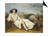 Goethe in the Roman Campagna, 1787 Art by Johann Heinrich Wilhelm Tischbein