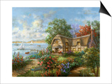 Seacove Cottage Poster by Nicky Boehme