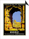 Rome Express Rome, Par le Train de Luxe Prints