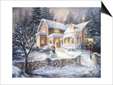 Winter's Welcome Print by Nicky Boehme