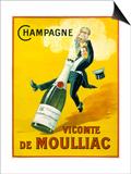 Champagne Vicomte De Moulliac Prints