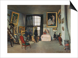 The Artist's Studio, Rue De La Condamine, Paris, 1870 Prints by Frederic Bazille