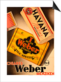 Cigares Weber Posters