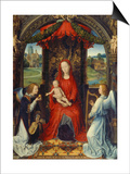 Virgin and Child with Two Angels Prints by Hans Memling