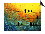 Birds of a Feather Posters by Megan Aroon Duncanson