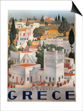Greece Dandros travel poster Prints