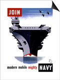 Join the Navy, Modern Mobile Mighty Print