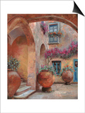 Il Cortile dell'arco Print by Guido Borelli
