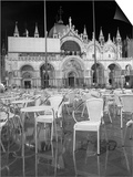 Chairs in San Marco Print by Moises Levy