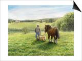 Green Fields of Home Poster par Kevin Dodds