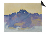 The Dents Du Midi, Viewed from Chesieres, 1912 Prints by Ferdinand Hodler