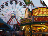 Rides at Indiana State Fair Midway, Indianapolis, Indiana, Prints by Anna Miller